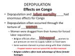 depopulation effects on congo