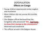 depopulation effects on congo1