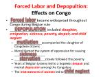 forced labor and depopultion effects on congo