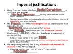 imperial justifications