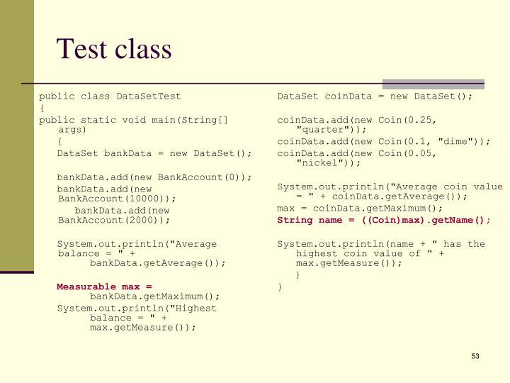 Test class