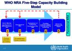 who nra five step capacity building model
