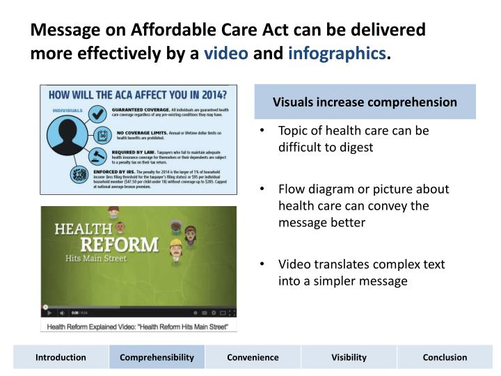 Message on Affordable Care Act can be delivered more effectively by a