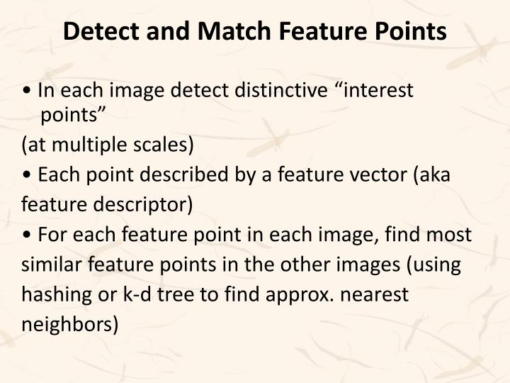 Detect and Match Feature Points