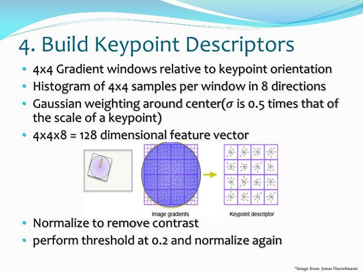 4. Build Keypoint Descriptors