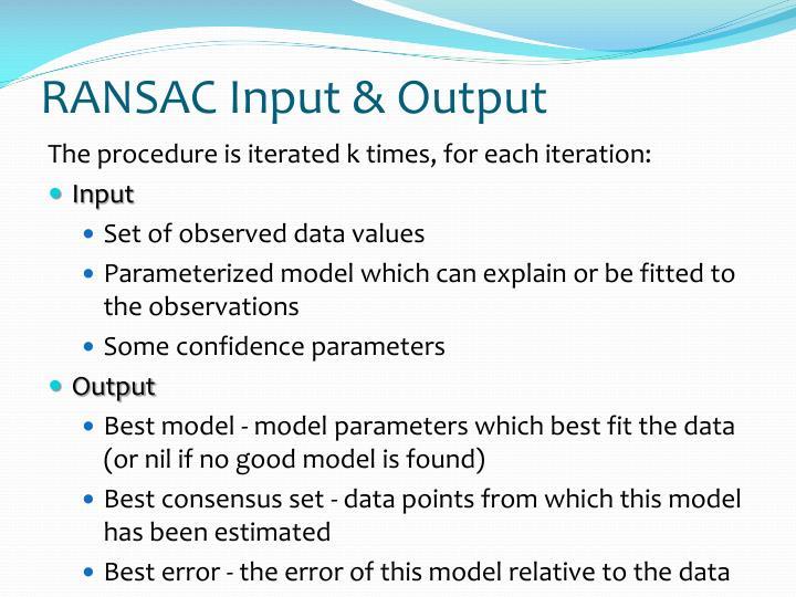 RANSAC Input & Output