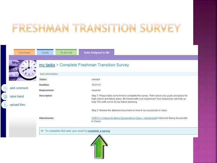 Freshman Transition Survey
