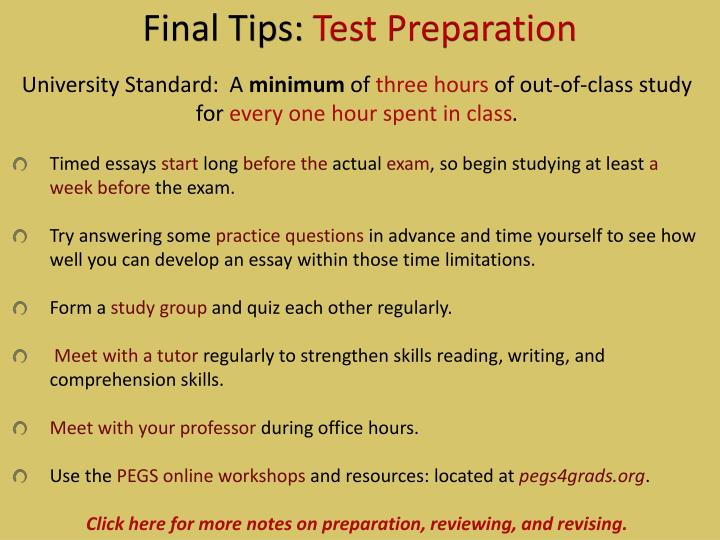 Final Tips: