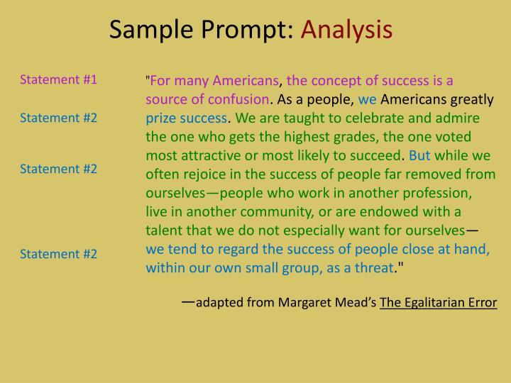 Sample Prompt: