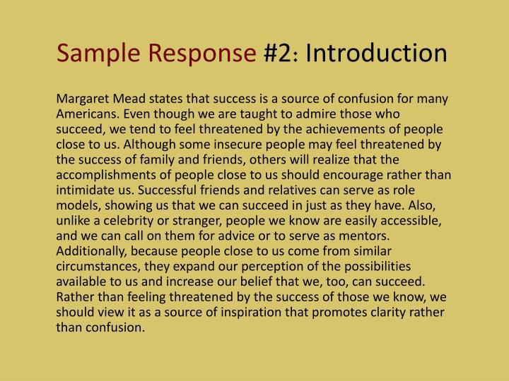 Sample Response