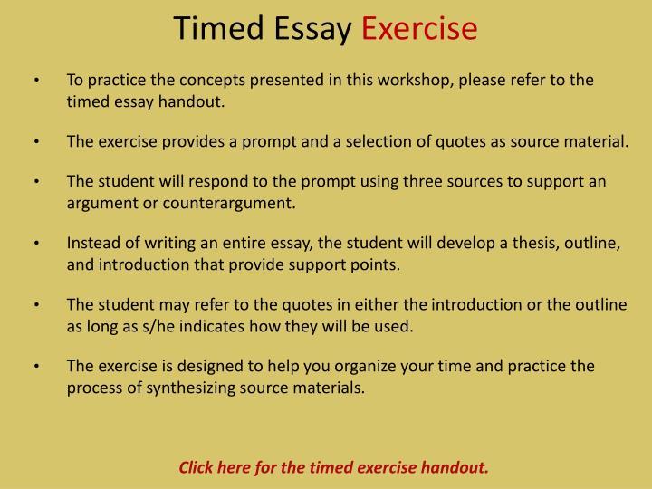 Timed Essay
