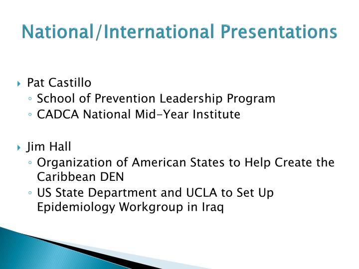 National/International Presentations