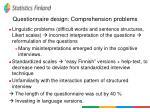 questionnaire design comprehension problems