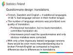 questionnaire design translations