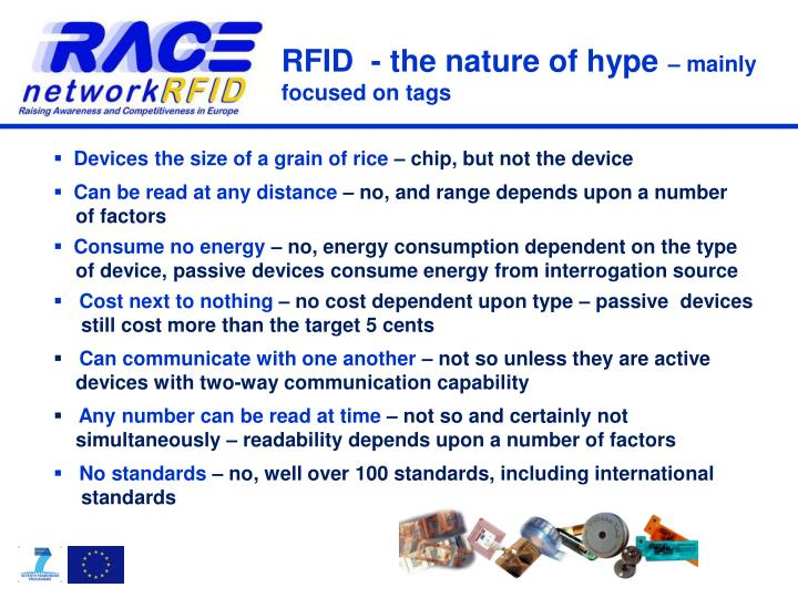Rfid the nature of hype mainly focused on tags