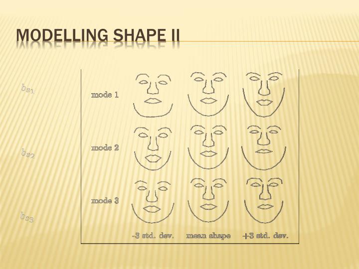 Modelling Shape II