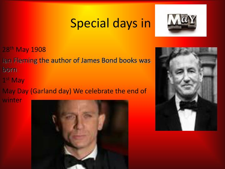 Special days in