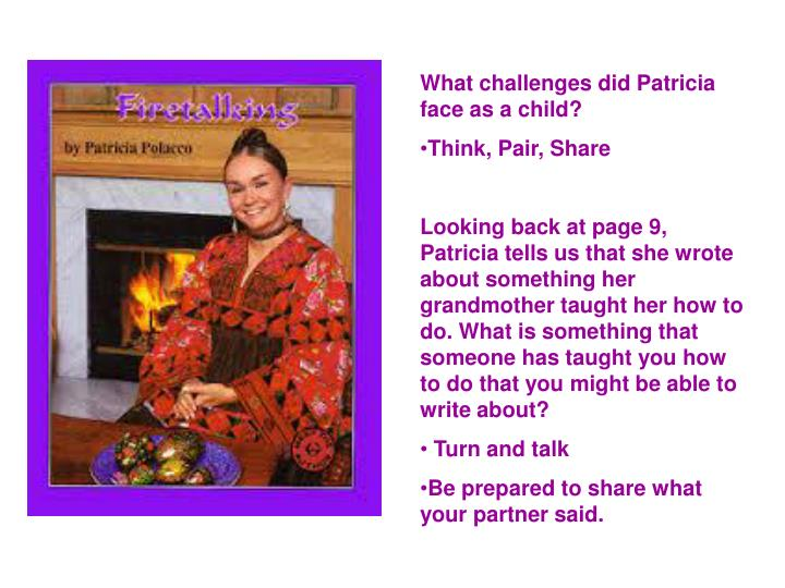 What challenges did Patricia face as a child?