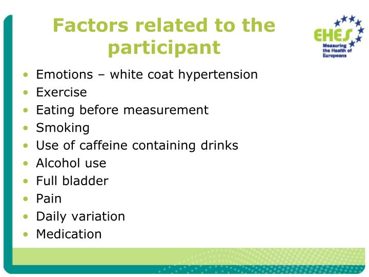Factors related to the participant