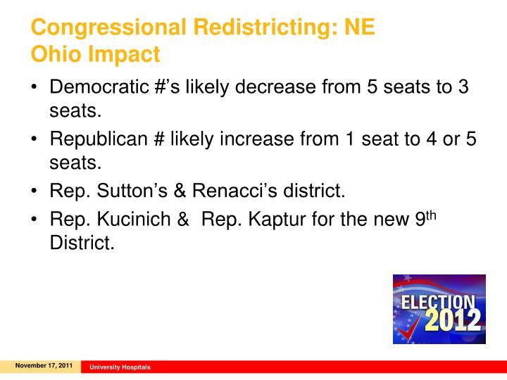 Congressional Redistricting: NE Ohio Impact