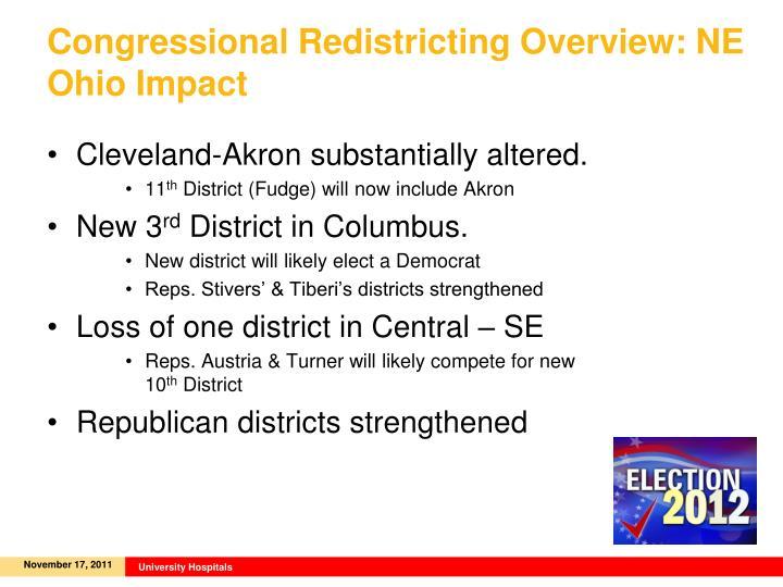 Congressional Redistricting Overview: NE Ohio Impact