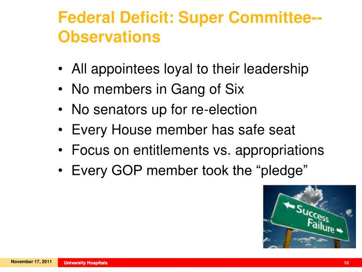Federal Deficit: Super Committee--Observations