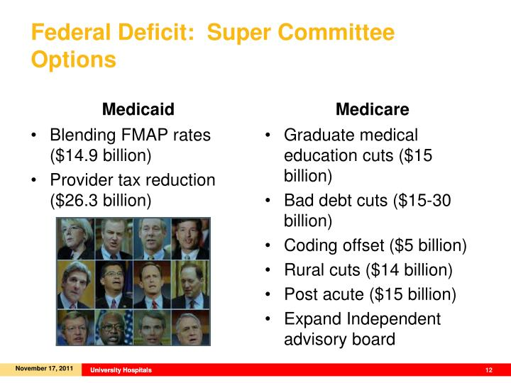 Federal Deficit:  Super Committee Options