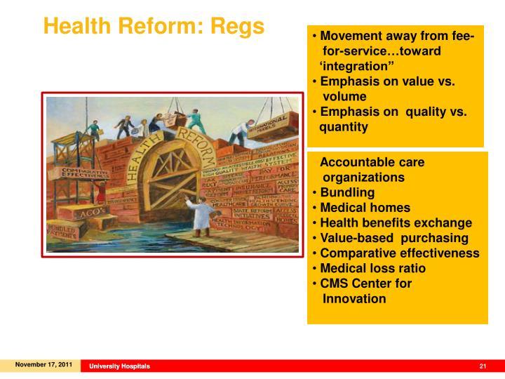 Health Reform: Regs