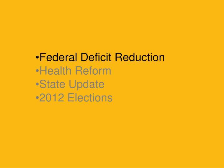 Federal Deficit Reduction