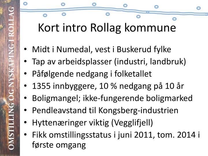 Kort intro Rollag kommune