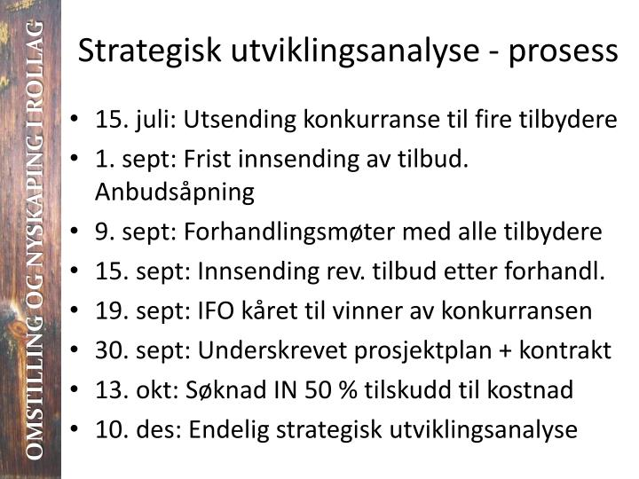 Strategisk utviklingsanalyse - prosess
