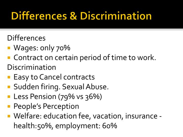 Differences & Discrimination