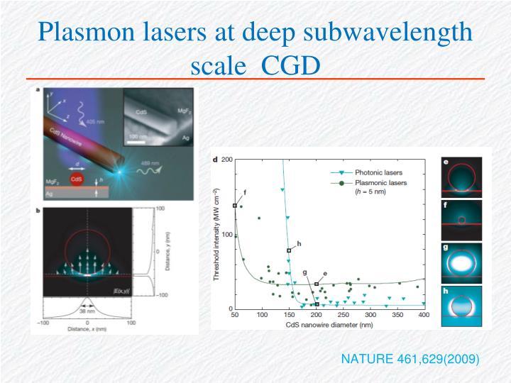 Plasmon lasers at deep