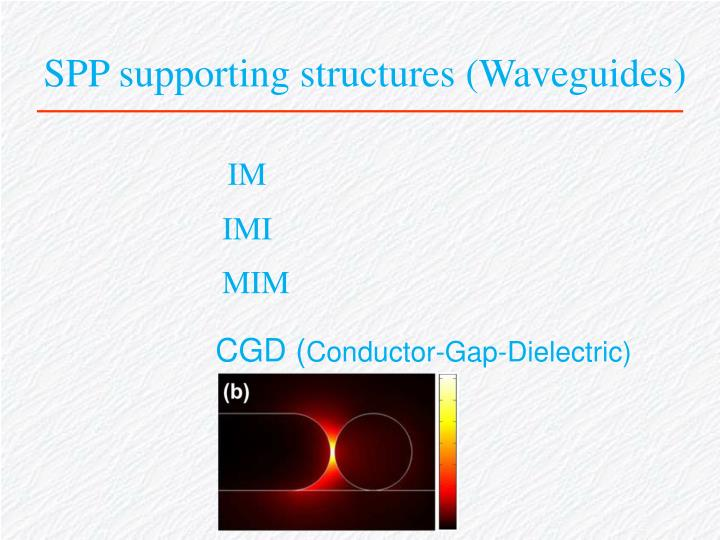 SPP supporting structures (Waveguides)