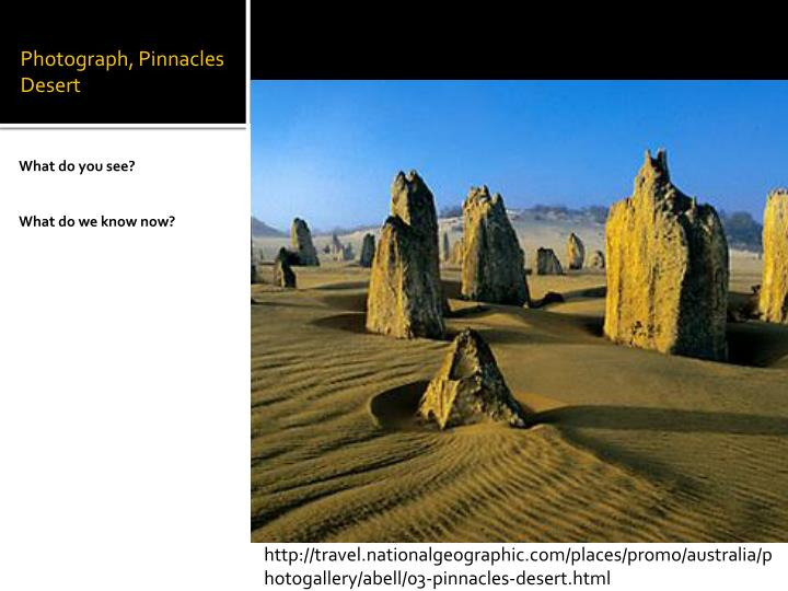 Photograph, Pinnacles Desert