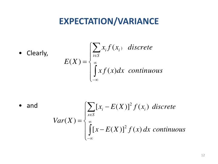 EXPECTATION/VARIANCE