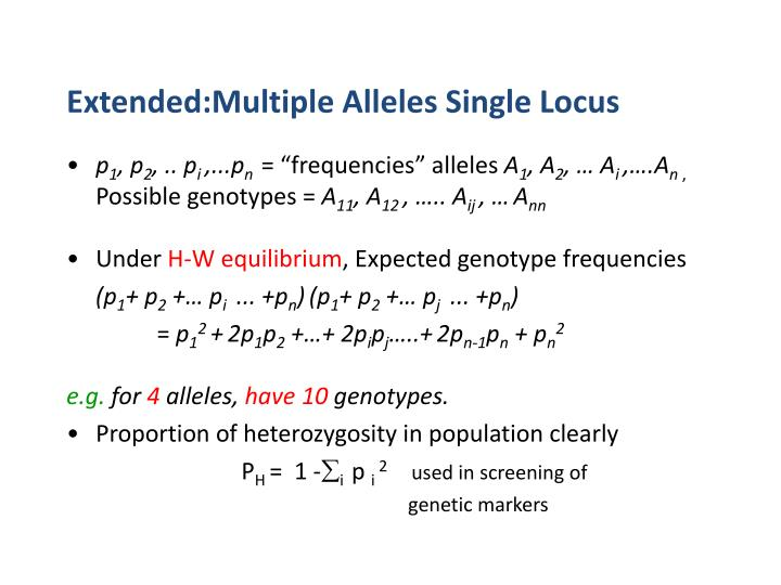 Extended:Multiple Alleles Single Locus