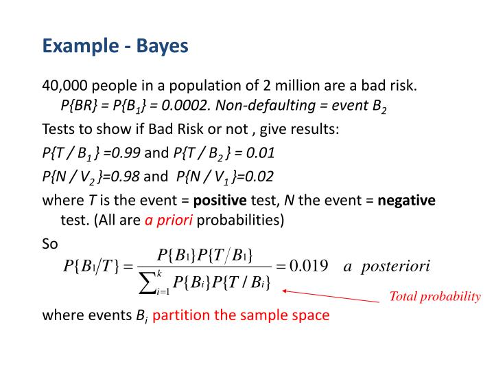 Example - Bayes