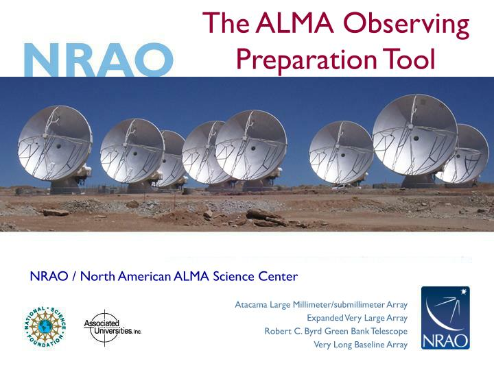 The alma observing preparation tool