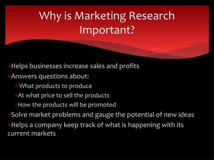 Why is Marketing Research Important?