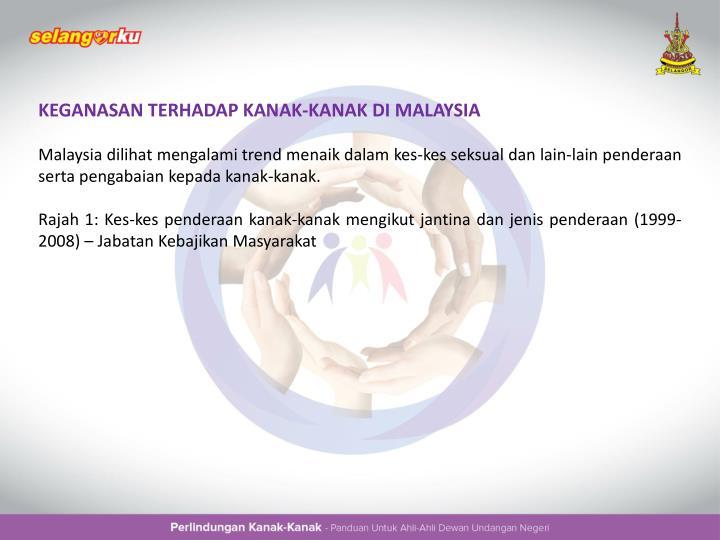 KEGANASAN TERHADAP KANAK-KANAK DI MALAYSIA