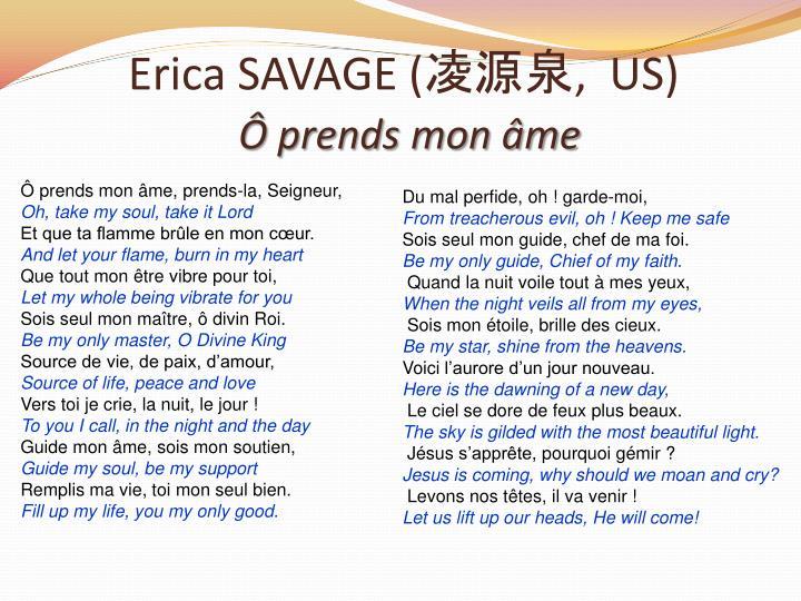 Erica SAVAGE (