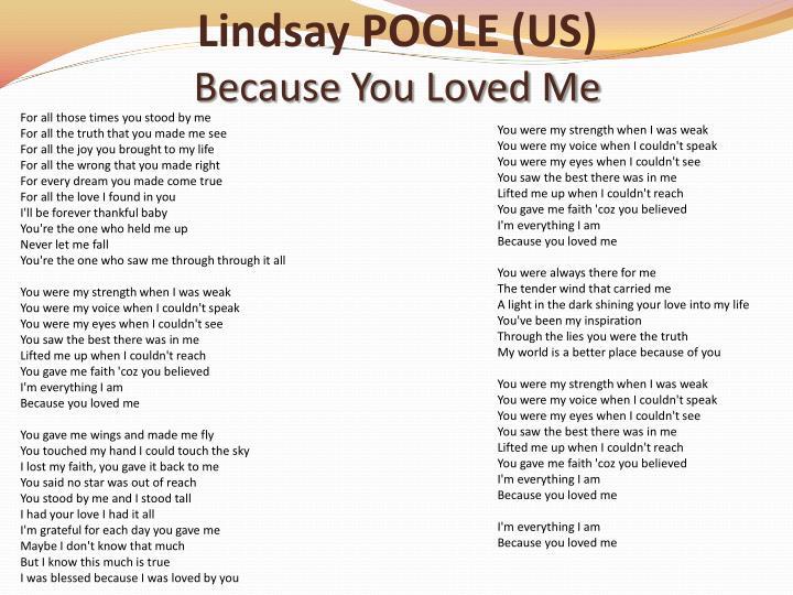 Lindsay POOLE (US)