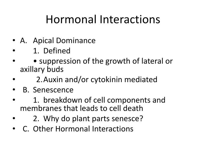 Hormonal Interactions