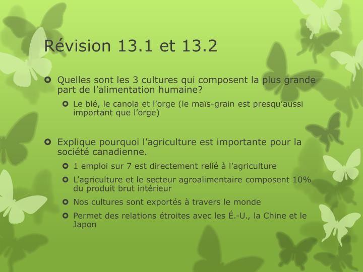 Révision 13.1 et 13.2