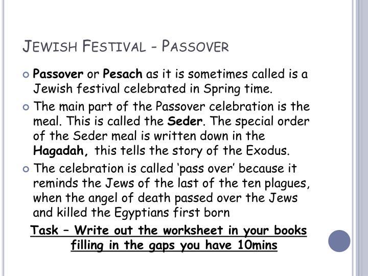 Jewish Festival - Passover
