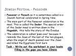 jewish festival passover