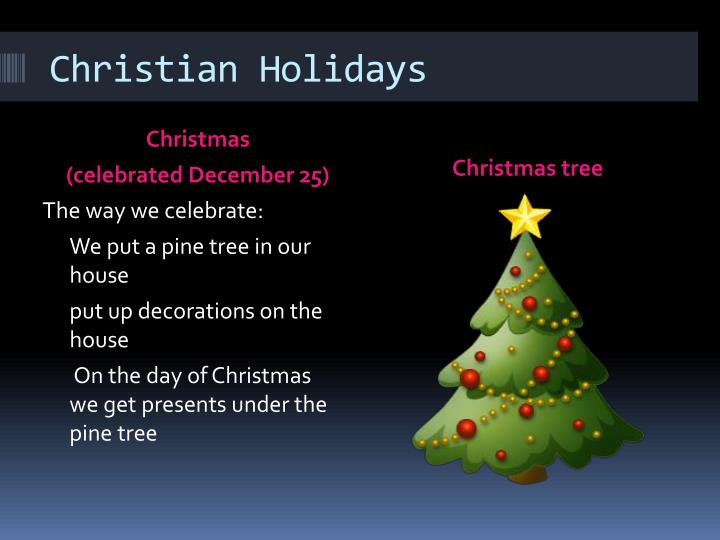 Christian Holidays