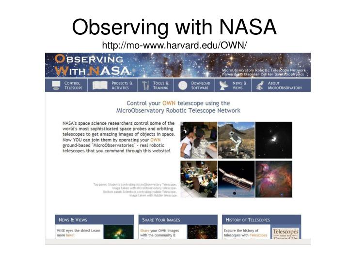 Observing with