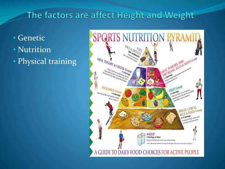 The factors are affect Height and Weight